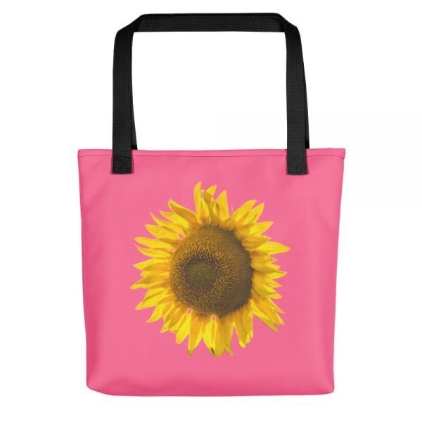 Sunflower Pink Tote Bag | Xantiago Tote Bags