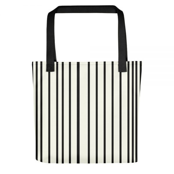 ONLY Off White Tote bag Black Stripes | Xantiago Tote Bags