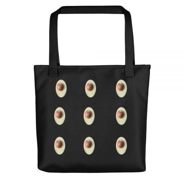 Avocado Black Tote Bag | Xantiago
