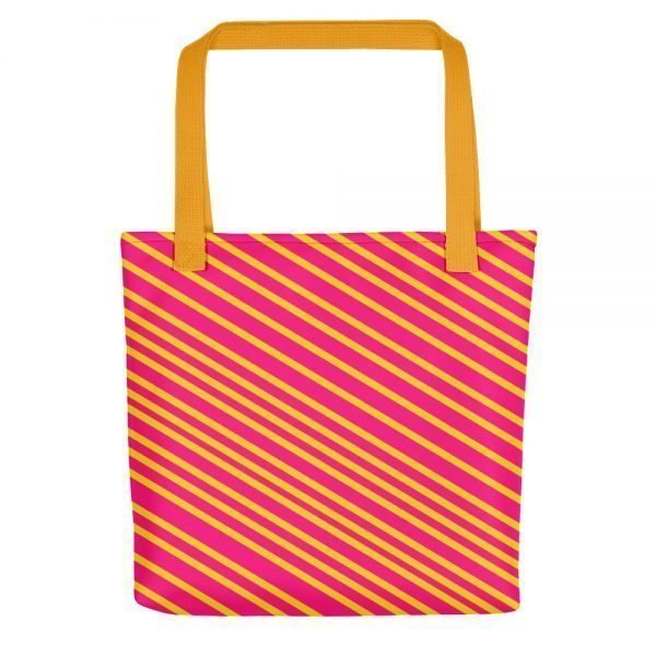 The Delicious Candy Tote bag | Magenta and Yellow Tote Bag | Xantiago