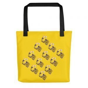 Cats in Box Yellow Tote bag
