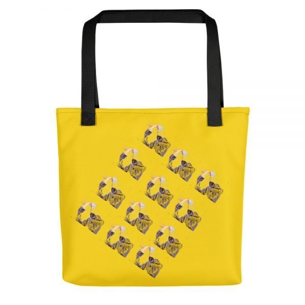 Cats In Box Yellow Tote Bag | Xantiago