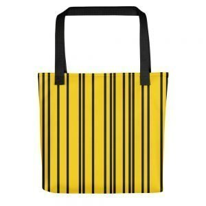 ONLY Yellow Black Stripes Tote bag