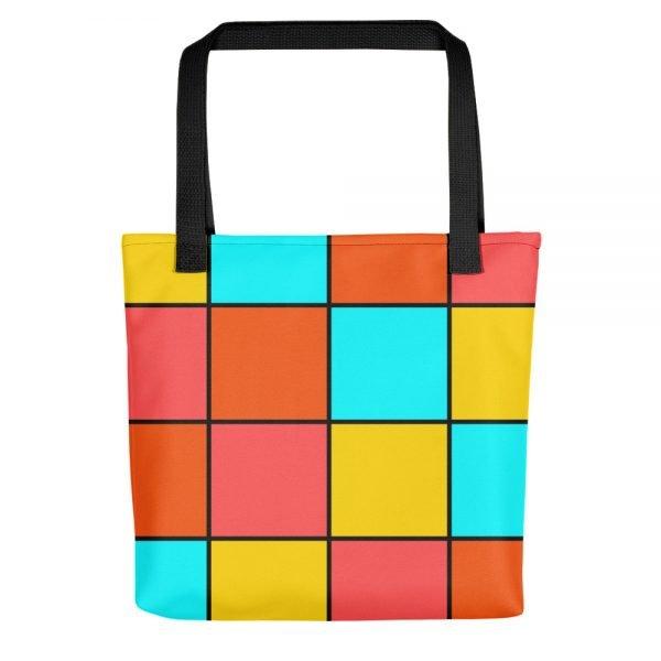 Bright Tiles Tote Bag | Xantiago Unique Tote Bags