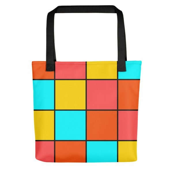 Bright Tiles Tote Bag | Xantiago Unique Tote Bags