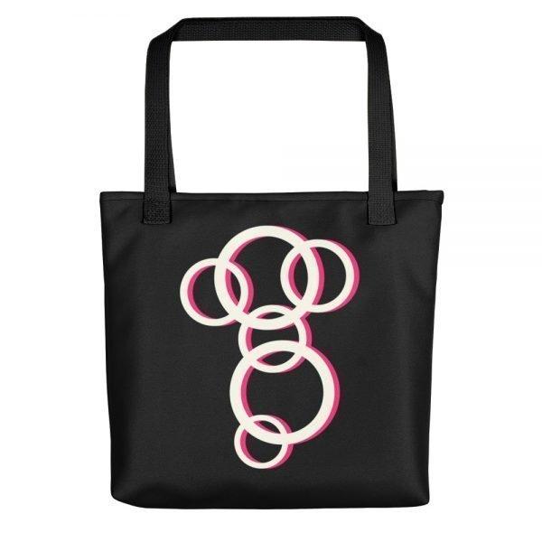 Faraway Black Tote bag | Xantiago Unique Tote Bags