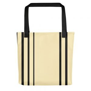 Black Striped Cream Tote bag