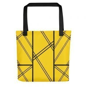 XAVI Yellow and Black Tote Bag