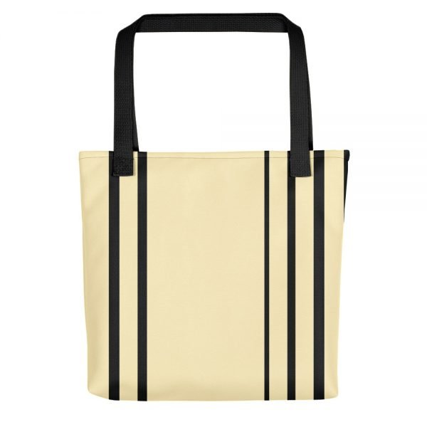 Black Striped Cream Tote Bag | Unique Tote Bags | Xantiago