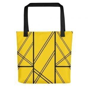 XAVI Yellow and Black Tote Bag
